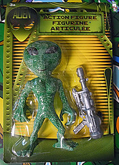 "DOLLAR TREE :: ""ALIEN"" ACTION FIGURE; Green & Tan ii (( 2012 ))"
