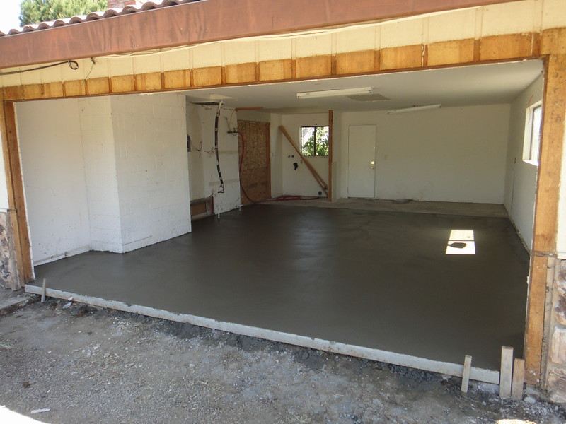 Garage Slab Replaced With Level Slab For Room Conversion