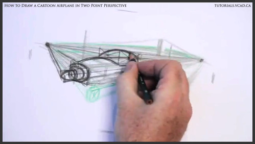 learn how to draw a cartoon airplane in two point perspective 015