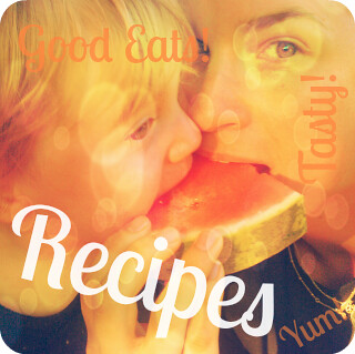 Recipes Button - Photo Style