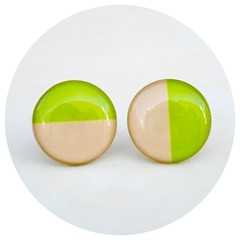 Neon Green Earring Studs