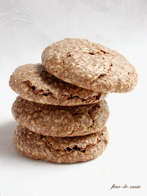 печенье кунжутное с шоколадом