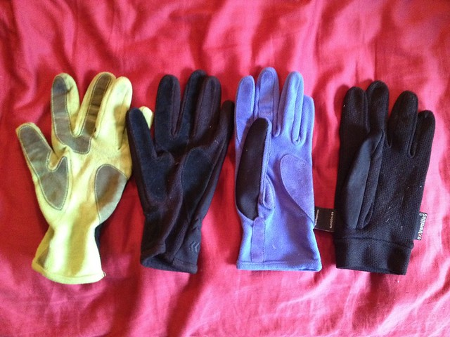 Four left gloves