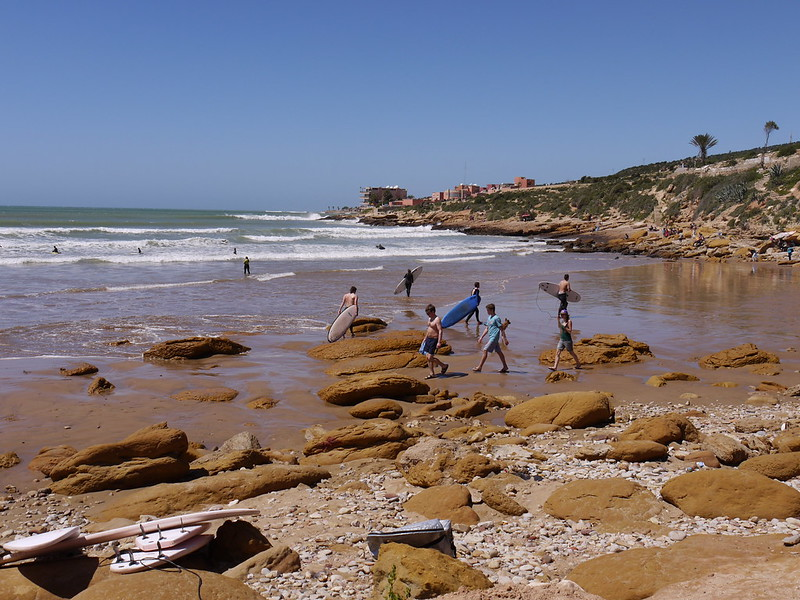 Panorama beach at Taghazout