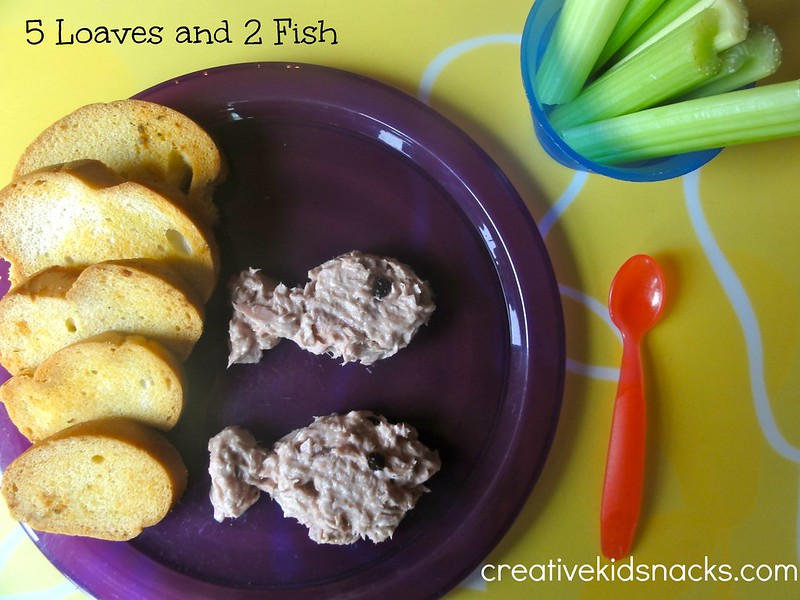5 loaves and 2 fish lunch and learning activities by creativekidsnacks.com