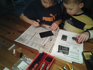 Junior Maker are soldering Calculator Kit