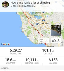My first 10K climbing day ever!