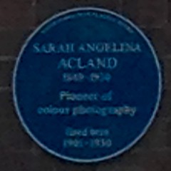 Photo of Sarah Angelina Acland blue plaque