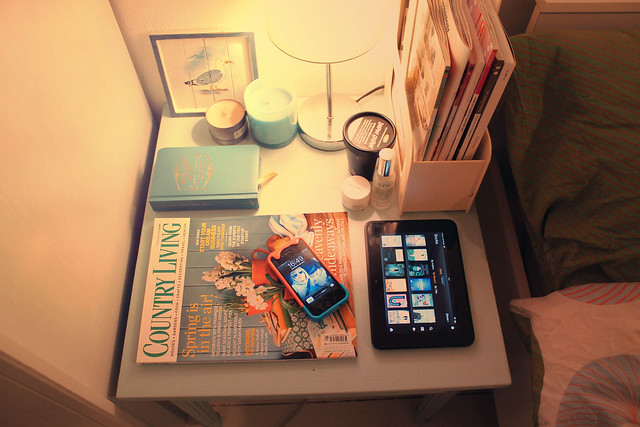 What's on my bedside table?
