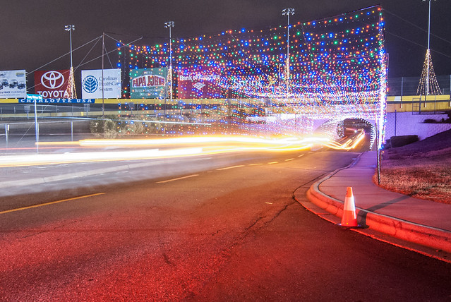 christmas lights at lowes motor speedway flickr photo