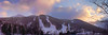 Loon Mountain at Sunset Panorama