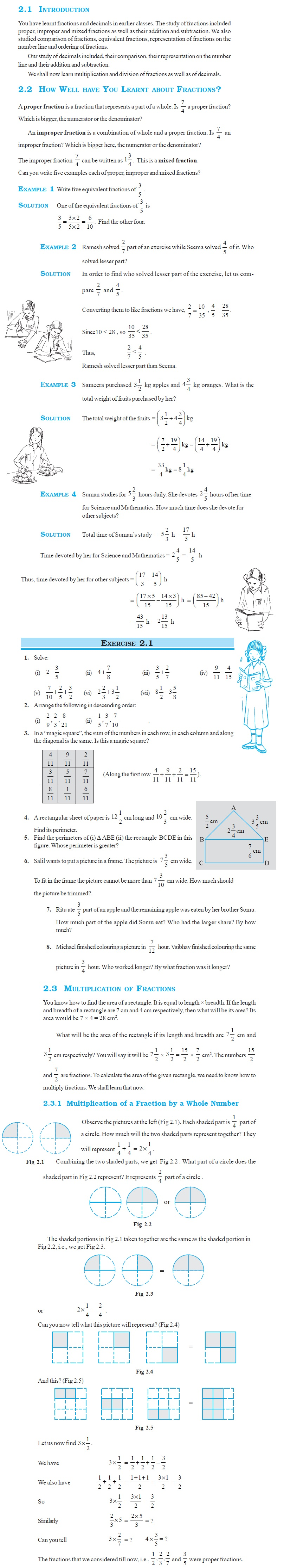 NCERT Class VII Maths Chapter 2 Fractions and Decimals