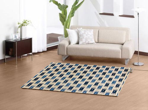 Geometric style rugs are perfect for contemporary living rooms.