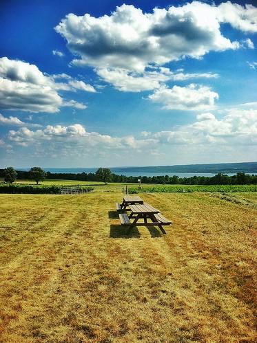 sky lake newyork clouds picnic winery