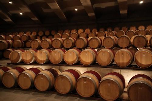 Montes wine barrels