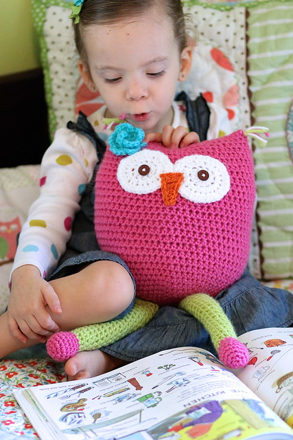 Free Owl Stuffed Cuddly Crochet Pattern : Owl Toy Crochet Pattern - Daisy Cottage Designs