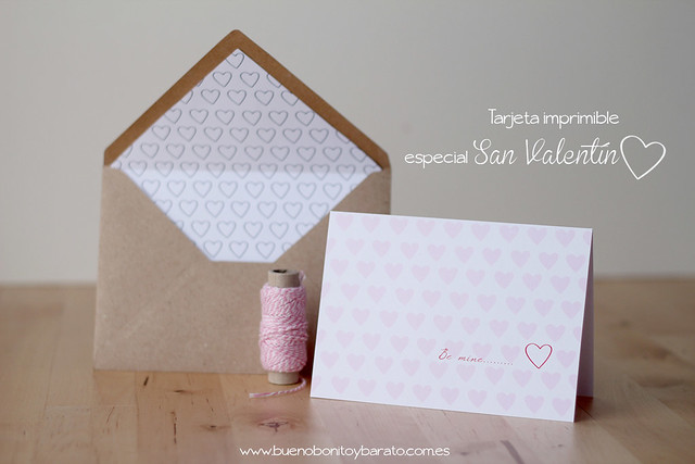 Tarjeta descargable san valentin