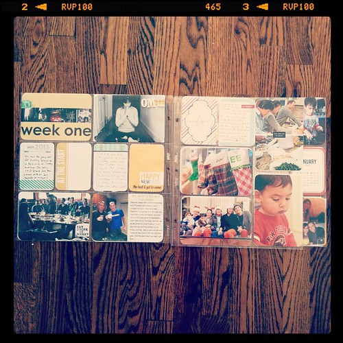 #projectlife 2013 week 1 full spread insert right side