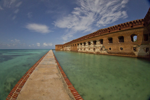 Fort Jefferson at night