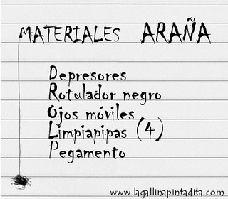 materiales araña