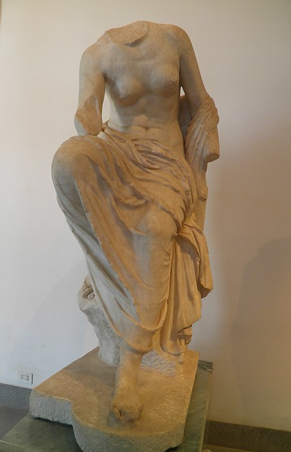 Dresden type seated Muse?, Flavian period, perhaps after a Greek work of the 3rd c. BC, Palatine Museum, Rome