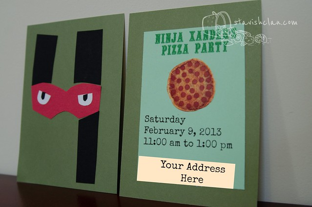 Party Invites Front and Back