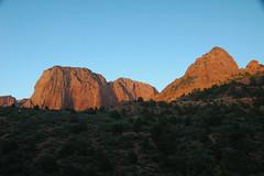 Navajo Sandstone (Lower Jurassic), Paria Point near sunset, Kolob Canyons, Zion National Park, sw Utah 11