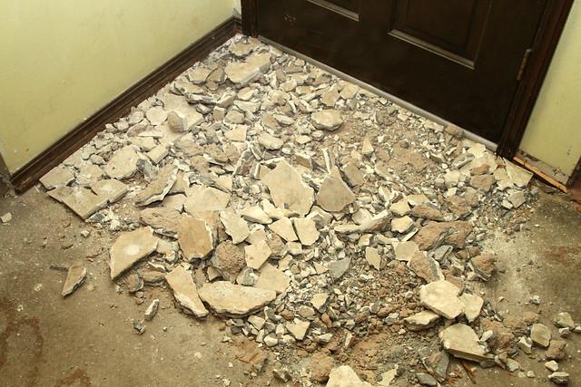 Tile Broken Up