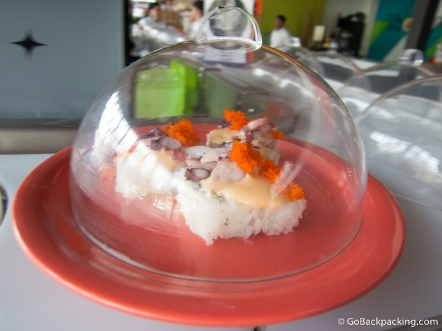 Octopus with caviar