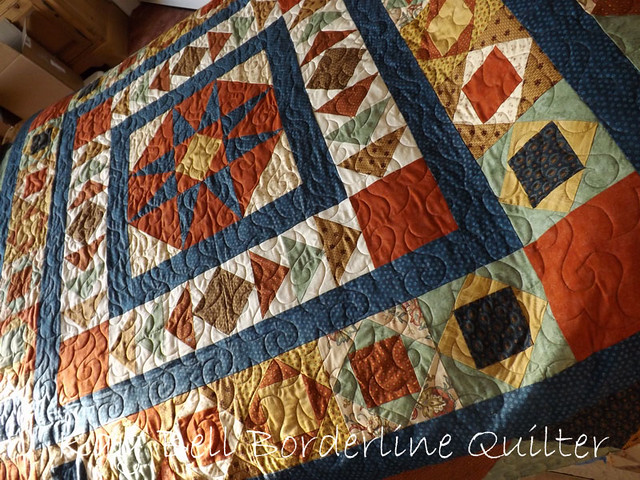 Doreen's Star quilt with Happy Times panto 2