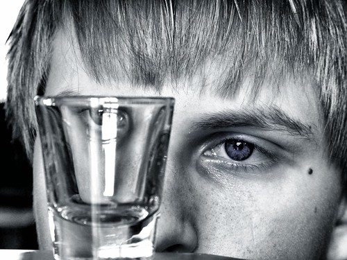 camera blue boy portrait bw white ontario canada black love glass monochrome canon hair lens cool eyes shot son blonde week5 lseries 24105mm canont2i