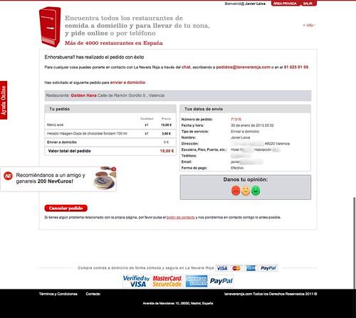 www.laneveraroja.com usuario pedido restaurante pedido_completo 71316