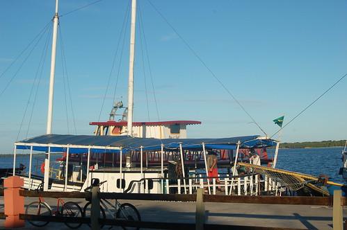 Ausflugsboot zur Isla in Cananeia