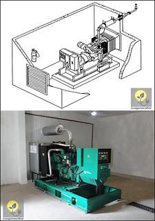 Монтаж генератора открытого типа