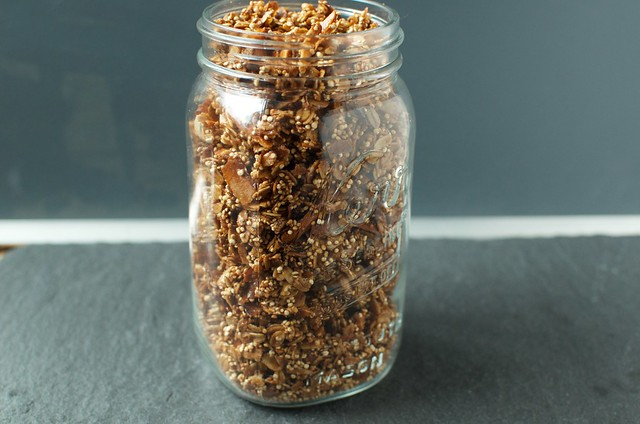 coconut quinoa granola side