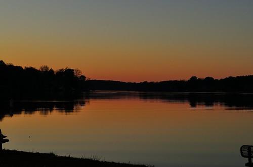 sunset lake nature nikon day clear d5000