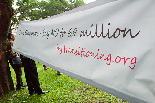 Say No to 6.9 million is a protest organised by transitioning.org