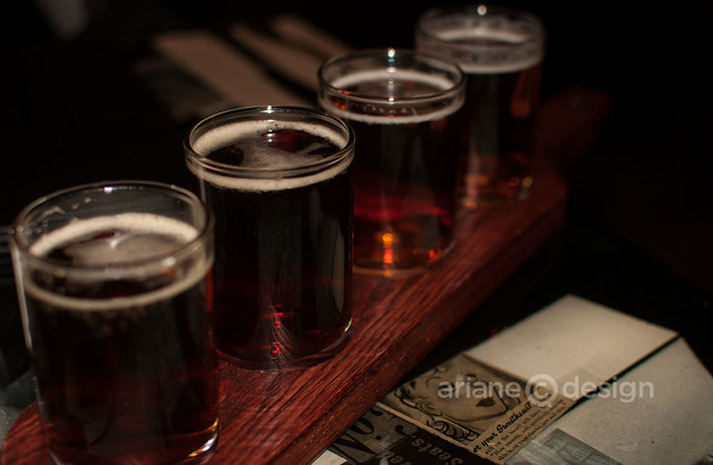 Stanley Park beer flight