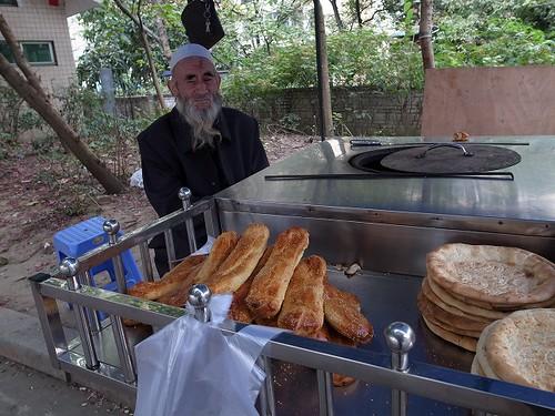 パンを売る露店