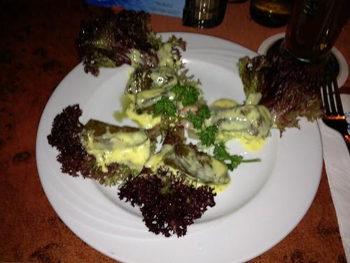 Dolmades - Gefüllte Weinblätter - Restaurant Poseidon