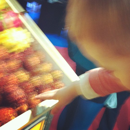 LB was determined to grab a lychee fruit at @keelings booth in #catex #catex13