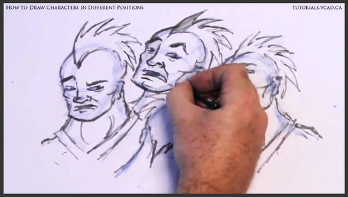 learn how to draw characters in different positions 027