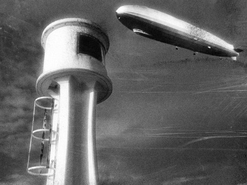 zeppelin and observation tower