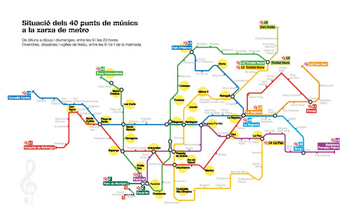 Els punts de músics de la xarxa de metro augmenten fins a 40