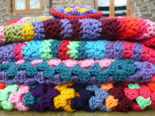 A stack of crochet