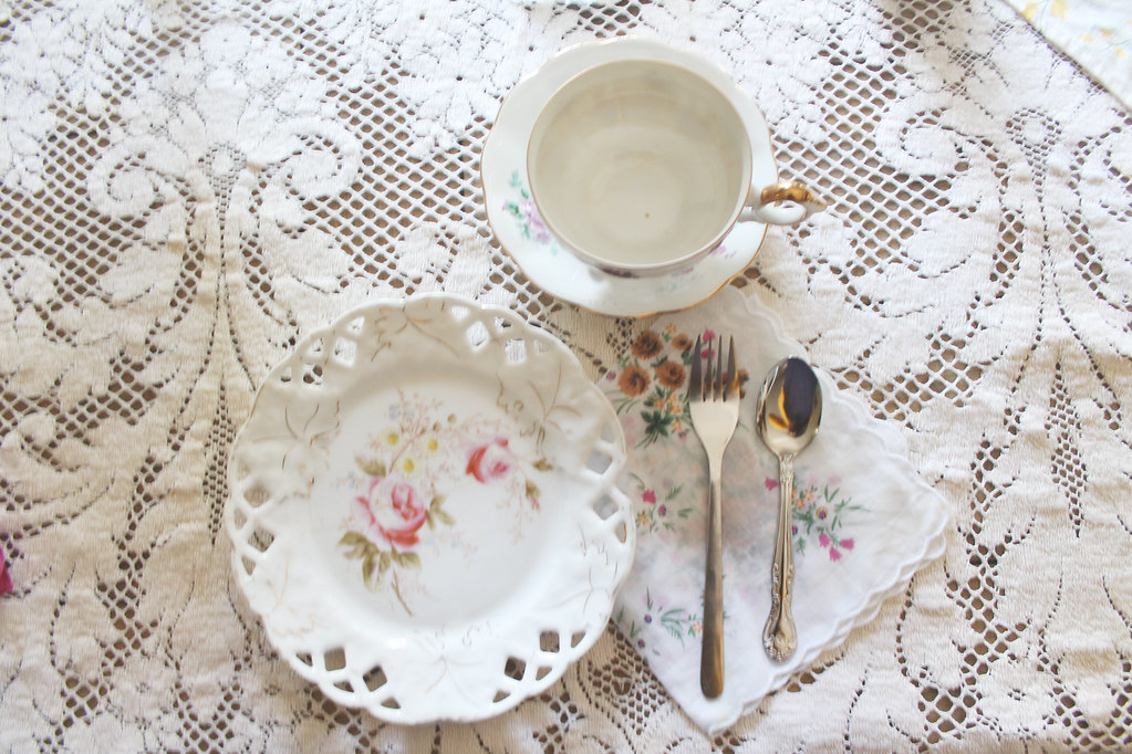afternoon tea place setting