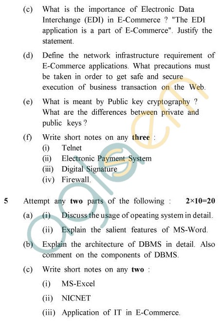 UPTU B.Tech Question Papers - PHAR-124/PH-124 - Computer Fundamentals & Programming