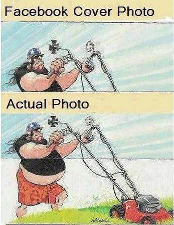 Facebook cover photo VS actual photo