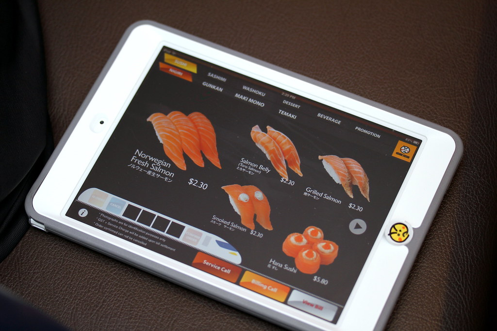Genki Sushi. Their Menu on iPad.