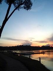 last night's sunset at MacRitchie Reservoir